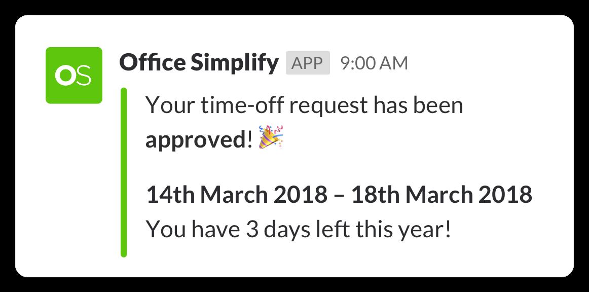 Slack interactive approval